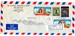 Lettre Recommandée De Amman (12.11.1973) Pour Lyon_Yahya Bibars Jordanie - Jordanie
