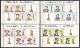 AJEDREZ - CUBA 1982 - Yvert #2409/12 (Minipliegos) - MNH ** - Ajedrez