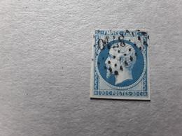 Empire No 14 B Obl Pc 3710  De ALGER , Algérie,  TB - 1853-1860 Napoléon III
