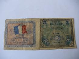 5 F DRAPEAU TYPE 1944  TRACT D  EPOQUE/ Le Deuxieme Me Parait Faux Je Le Met En Plus Du Premier DANS LE DOUTE - Altri