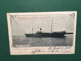 Cartolina Navigazione Generale Italiana - Società Riunite - Piroscafo - 1930 - Pubblicitari