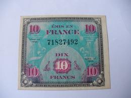 10 F DRAPEAU TYPE 1944  SANS SERIE - Trésor