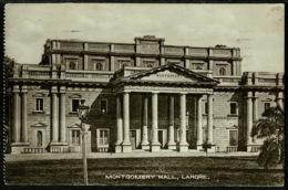 Ref 1266 - 1935 Postcard - Montgomery Hall - Lahore Pakistan - GB Jubilee 1d Used Aldershot - Pakistan