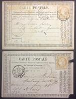 CP10 2 Cartes Précurseur N°6 T.n°59 GC 4347 Woincourt Et N° 22 Ambulant MP - Postal Stamped Stationery