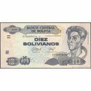 TWN - BOLIVIA 243 - 10 Bolivianos 28.11.1986 (2015) Serie J - Printer: OF UNC - Bolivie