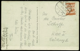 Ref 1266 - 1928 Real Photo Postcard - Mountaineering Hut Cachet - Solden Austria 10g Rate - 1918-1945 1st Republic