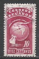 Ecuador 1954. Scott #RA74 (U) Globe, Ship And Plane ** - Equateur