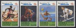 //// Sierra Leone Yvert 1282 / 1285** - Ete 1992: Barcelone