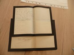 DESEILLIGNY Paul 2 LAS Autographes à GABALA 1915/1916 Paris Félicitation Et Considérations Professionnelles Change - Autogramme & Autographen