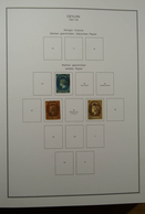 Ceylon / Sri Lanka: 1857-1988. Well Filled, Used (most Souvenir Shets MNH) Collection Ceylon 1857-19 - Sri Lanka (Ceylon) (1948-...)