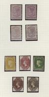 Ceylon / Sri Lanka: 1864/1870, Petty Mint Collection Of Nine QV Stamps On Album Page, Incl. Four Cop - Sri Lanka (Ceylon) (1948-...)