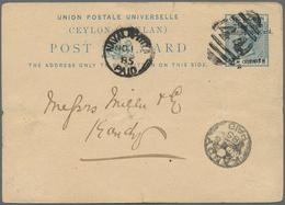 Ceylon / Sri Lanka: 1870's-1940's: Group Of 30 Postal Stationery Items, 14 Used, 16 Unused, With Ear - Sri Lanka (Ceylon) (1948-...)