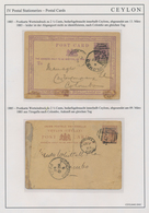 Ceylon / Sri Lanka: 1872/1970 (c.): Collection Of About 70 Postal Stationery Cards, Letter Cards And - Sri Lanka (Ceylon) (1948-...)