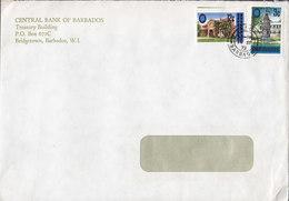 Barbados CENTRAL BANK OF BARBADOS, Bridgetown West Indies 1973 Cover Brief - Barbados (1966-...)