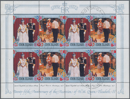 Cook-Inseln: 1977, 25th Anniversary Of The Accession Of QEII Complete Set In 15 Sheetlets Of Eight ( - Cookinseln