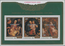 Cook-Inseln: 1986, Christmas Miniature Sheets Set Of Two 3 X $2.40 And $6.40 With Different Rubens P - Cookinseln