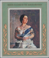 Cook-Inseln: 1987, 85th Birthday Of Queen Mum Miniature Sheet $5.40 With Painting From Gerald Kelly - Cookinseln