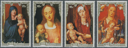Cook-Inseln: 1988, Christmas Complete Set Of Four With Different Dürer Paintings In An INVESTMENT LO - Cookinseln
