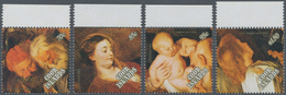 Cook-Inseln: 1989, Christmas Complete Set Of Four With Different Rubens Paintings In A Lot With 672 - Cookinseln