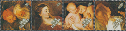 Cook-Inseln: 1989, Christmas Complete Set Of Four With Different Rubens Paintings In A Lot With Appr - Cookinseln
