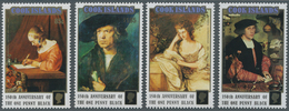 Cook-Inseln: 1990, 150th Anniversary Of The One Penny Black Complete Set Of Four Showing Different P - Cookinseln