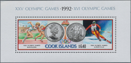 Cook-Inseln: 1991, Olympic Games 1992, $6.40 Souvenir Sheet, 800 Pieces Unmounted Mint. Michel No. B - Cookinseln
