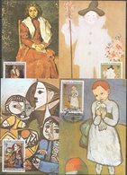 ST.THOMAS 1981 FULL SET Painting Picasso 4 CARDS MAXIMUM - Picasso