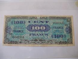 100 F FRANCE TYPE 1945 SERIE 10 - Trésor