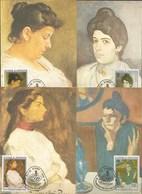 ST.THOMAS 1982 FULL SET Painting Picasso 6 CARDS MAXIMUM - Picasso