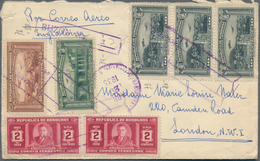 Honduras: 1890/2000 (ca.), Lot Of Apprx. 75 Covers/cards/stationeries, Incl. Attractive Frankings, R - Honduras
