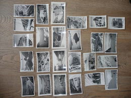 PHOTOS BARRAGE De 7 LAUX (dépt 38)  Avancement MENSUEL Chantier En 1939 ( De Janvier à Novembre) - Albums & Collections