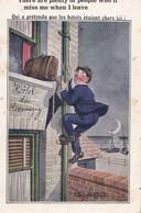 """Carte 1920 Signé Mc Gill : """"qui A Prétendu Que Les Hôtels étaient Chers Ici"""" - Mc Gill, Donald"""