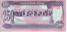 Iraq. Banknote. 250 Dinars. Saddam Hussain. UNC. 1990 - Iraq