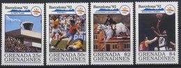//// Grande Et Grenadines Yvert 1148 / 1151** - Ete 1992: Barcelone