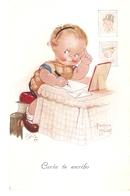 """Beatrice  Mallet. Writting A Letter!"" Tuck Oiette Cute Kiddies Series PC # 3568 - Tuck, Raphael"