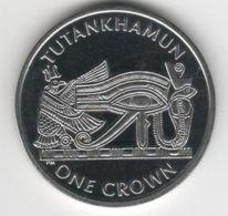 Isle Of Man. Coin. 1 Crown. 2008. UNC. Tutankhamun. The Eye Of Ra. The Great Coin - Monnaies Régionales