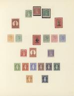 Jungferninseln / Virgin Islands: 1866-1930, Collection On Two Album Leaves Starting St. Ursula 1866 - British Virgin Islands
