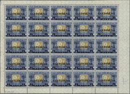 Kolumbien: 1933, 400th Anniversary Of Cartagena, 20c. On 1p. Blue/yellow, Lot Of 1.375 Mint Stamps W - Kolumbien