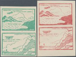 Kolumbien - Ausgaben Der Compania Colombiana De Navegacion Aérea: 1920, Monocoloured Issue In New Ty - Kolumbien