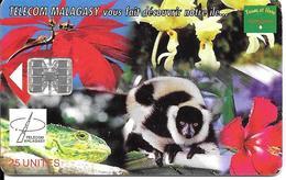 CARTE+ PUCE-25U-SC7-03/99-MADAGASCAR-FAUNE Et FLORE-600000Ex-TBE - Madagascar