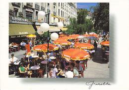 38 GRENOBLE - VUE UNIQUE -  PLACE GRENETTE - TERRASSE CAFE - Grenoble
