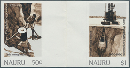 """Nauru: 1990/94, Special Lot Containing Imperforated Stamps Only: Scott #380/83 """"Flowers"""" With 28 Sta - Nauru"""