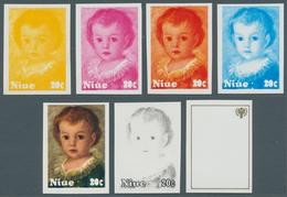 Niue: 1977/90, Sammlung Von 3.787 PHASENDRUCKEN Nur Verschiedener Und Kompletter Ausgaben, Dabei Vie - Niue