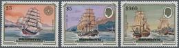 Penrhyn: 1984, Ship Definitives The Three Key Values $3 'Mermerus', $5 'Cutty Sark' And $9.60 'Resol - Penrhyn