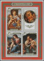 Penrhyn: 1987, Christmas Miniature Sheet With Three Different Raffael Paintings (The Garvagh Madonna - Penrhyn