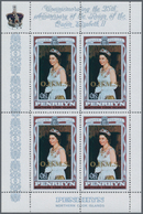 Penrhyn - Dienstmarken: 1978, Silver Jubilee QEII Set Of Two $1 And $2 With Opt. 'O.H.M.S.' In A Lot - Penrhyn