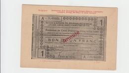 BLEHARIES 1914  - BON DE 1 FRANC SUR CPA  - VIERGE - Belgique