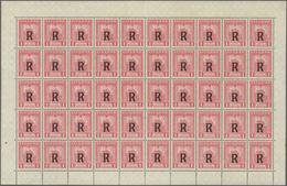 SCADTA - Ausgaben Für Ecuador: 1929, Registration Stamp 1s. Rose, Lot Of Five (folded) Sheets Of 50 - Ecuador