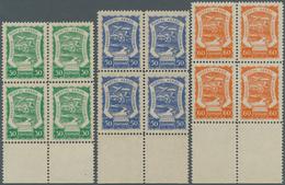 SCADTA - Ausgaben Für Kolumbien: 1921/1923, SERVICIO POSTAL AEREO DE COLOMBIA Six Values 'Rio Magdal - Kolumbien