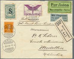 SCADTA - Ausgaben Für Kolumbien: 1924/1928. Album With 32 Scadta Covers, Including 3 Swiss Items. Pa - Kolumbien
